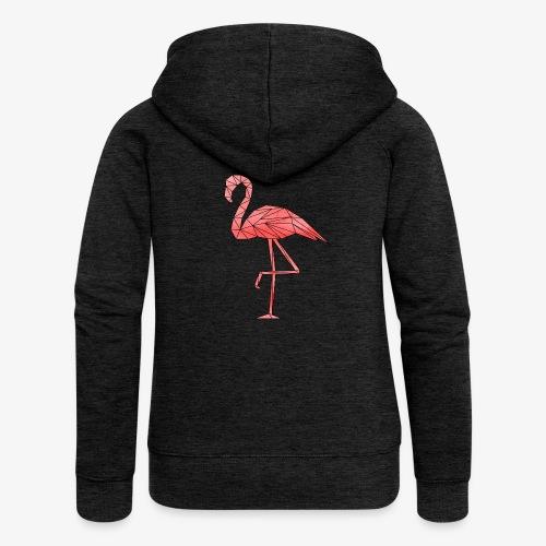 Flamingo Geometrisch - Frauen Premium Kapuzenjacke