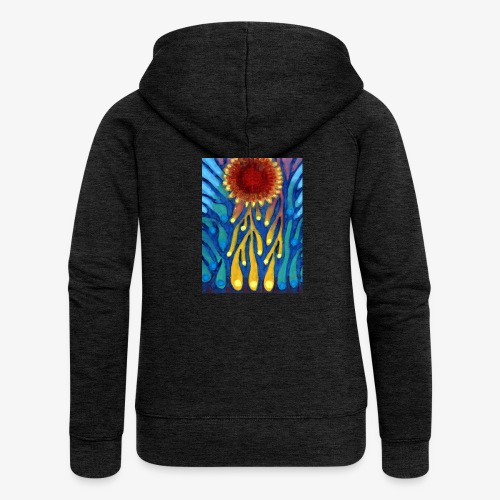 Chore Słońce - Rozpinana bluza damska z kapturem Premium