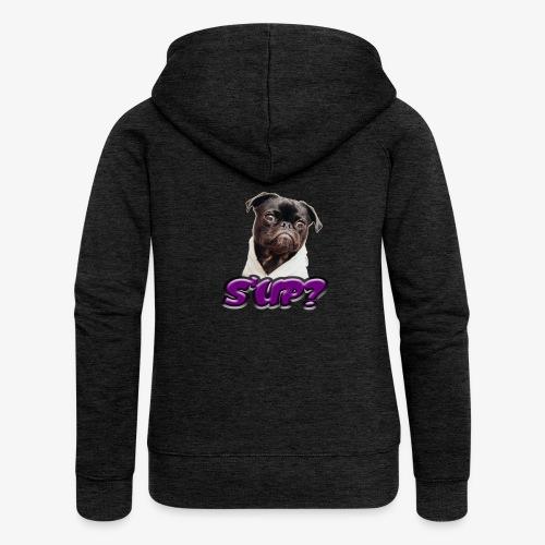 Sup pug - Women's Premium Hooded Jacket