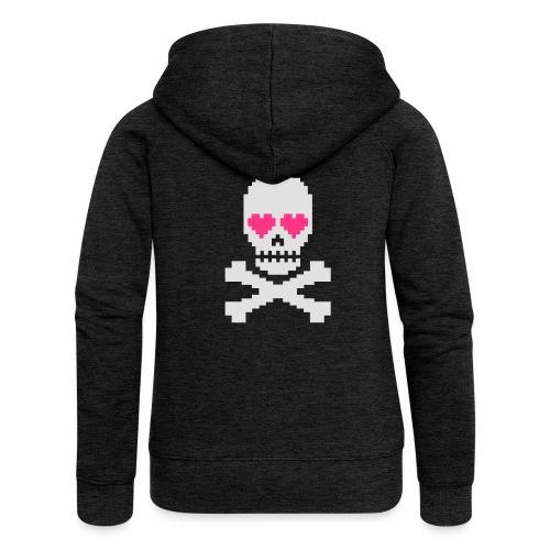 Skull Love - Vrouwenjack met capuchon Premium