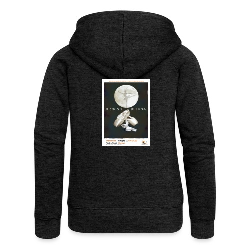 Il Sogno di Luna - Felpa con zip premium da donna