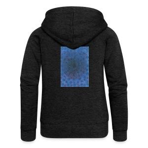 Blue Sky - Rozpinana bluza damska z kapturem Premium