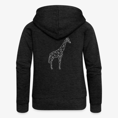 Giraffe Geometrisch weiss - Frauen Premium Kapuzenjacke