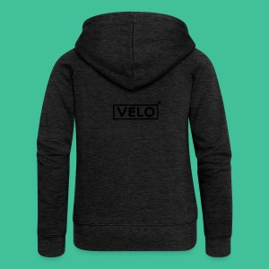 Velo Icon Blk - Long Sleeve Baseball Shirt W/N Clr - Women's Premium Hooded Jacket