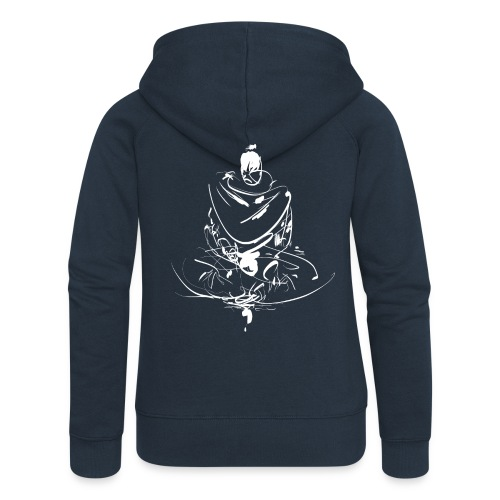 Iaido Samurai Zen Meditation - Women's Premium Hooded Jacket