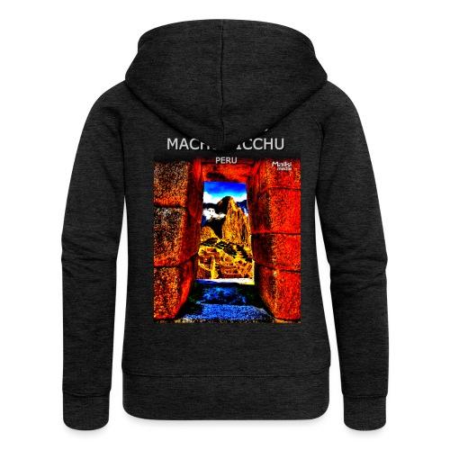 SOJA de los ANDES - Machu Picchu II - Chaqueta con capucha premium mujer