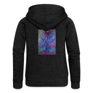 DrzewoKwiat - Rozpinana bluza damska z kapturem Premium