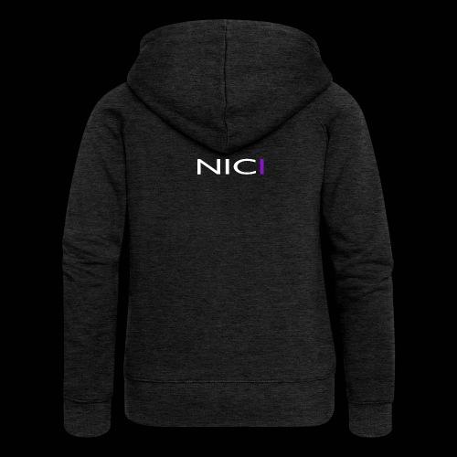 NICI logo WHITE - Naisten Girlie svetaritakki premium