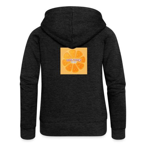 orangetextur - Frauen Premium Kapuzenjacke