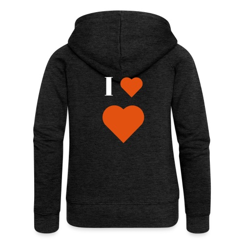 I Heart heart - Women's Premium Hooded Jacket