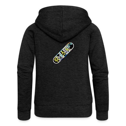 SkateFire #2 (MatteFShop Original) - Felpa con zip premium da donna