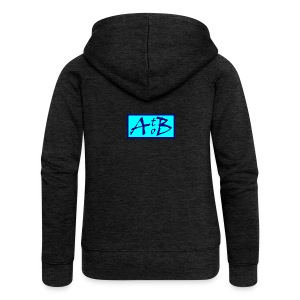 AtoB Logo light blue - Women's Premium Hooded Jacket