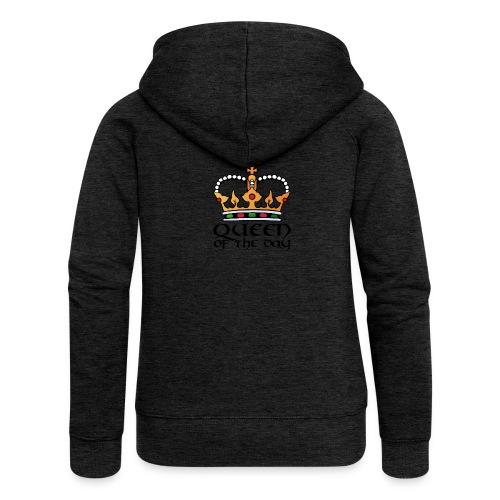 Queen of the day - Frauen Premium Kapuzenjacke