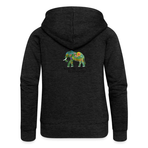 Save The Last Elephants - Frauen Premium Kapuzenjacke