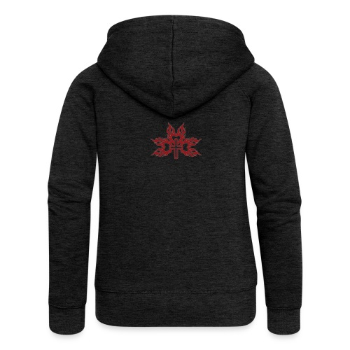 Cross with flaming hearts 01 - Women's Premium Hooded Jacket