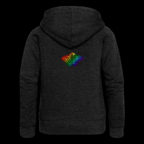 Regenboog vlinder - Freedom, Love en Happiness - Vrouwenjack met capuchon Premium