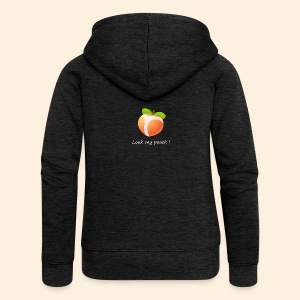 Look my peach in white - Women's Premium Hooded Jacket