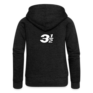 Three and a Half Logo - Women's Premium Hooded Jacket