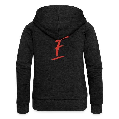 Radio Fugue F Rouge - Veste à capuche Premium Femme
