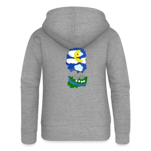 smiling moon and funny sheep - Women's Premium Hooded Jacket