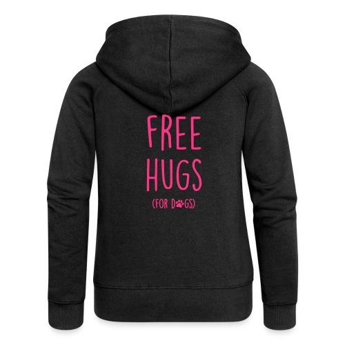Vorschau: free hugs for dogs - Frauen Premium Kapuzenjacke