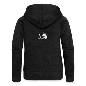 Unicorn Work - Women's Premium Hooded Jacket