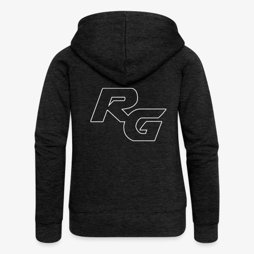 Logo RG Minimal - Felpa con zip premium da donna