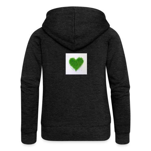 Herzrasen Button - Frauen Premium Kapuzenjacke