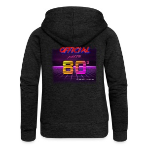 Official product of the 80's clothing - Women's Premium Hooded Jacket