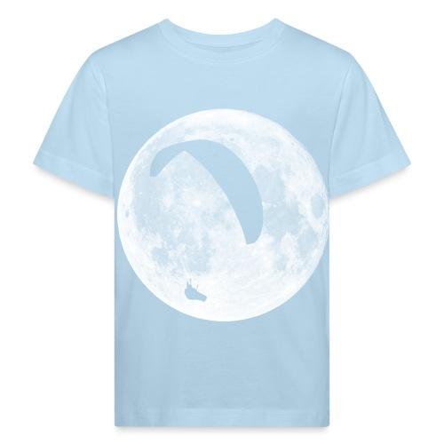 Paragleiter im Mond - Kinder Bio-T-Shirt