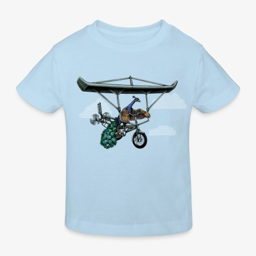 Flight of the Peacock - Kids' Organic T-Shirt