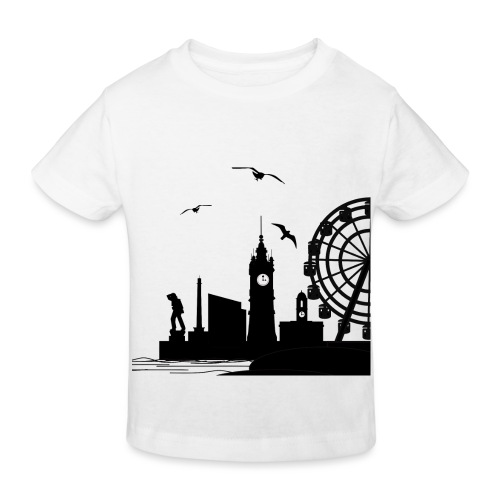 Silhouette of Margate - Kids' Organic T-Shirt