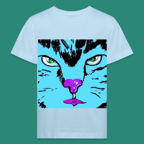 Der blaue Kater - Kinder Bio-T-Shirt