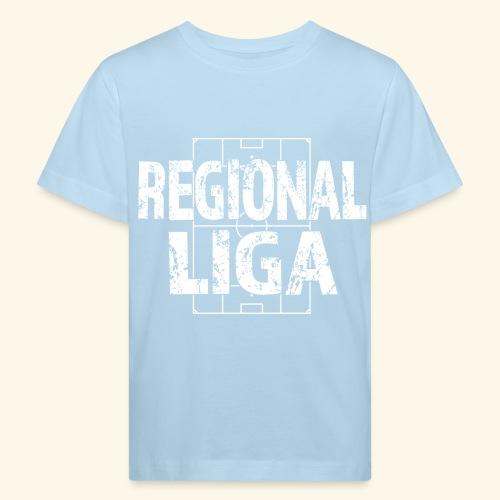 REGIONALLIGA im Fußballfeld - Kinder Bio-T-Shirt