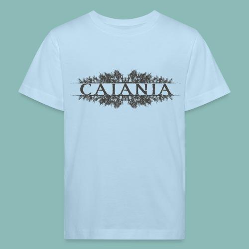 Caiania-logo harmaa - Lasten luonnonmukainen t-paita