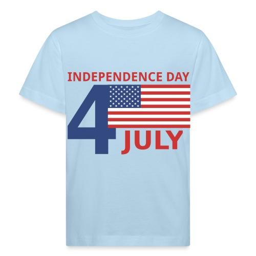 4 luglio giorno della indipendenza - Maglietta ecologica per bambini