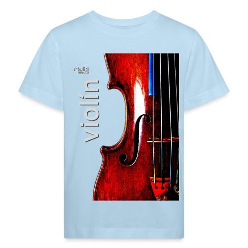 Violín i - Camiseta ecológica niño