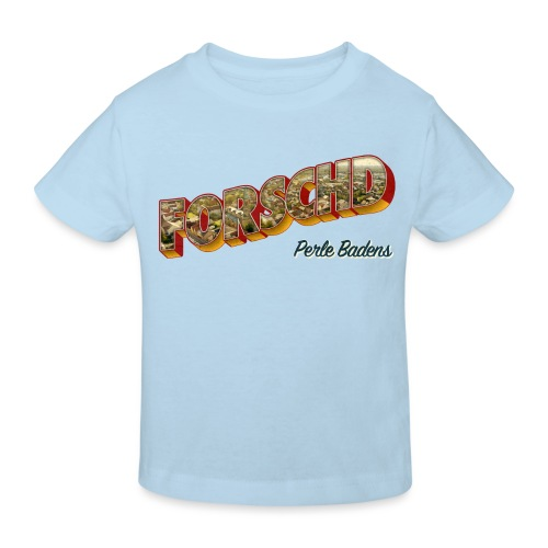 Forschd - Perle Badens - Vintage-Logo mit Luftbild - Kinder Bio-T-Shirt
