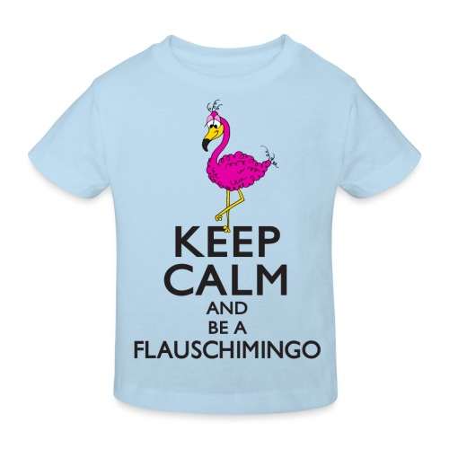 Keep calm and be a Flauschimingo - Kinder Bio-T-Shirt