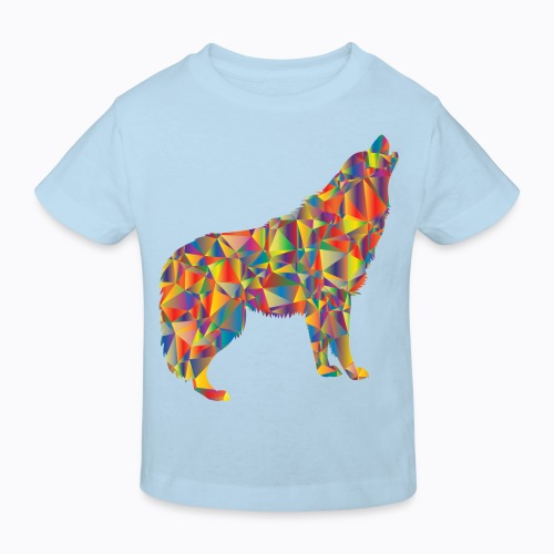 howling colorful - Kids' Organic T-Shirt