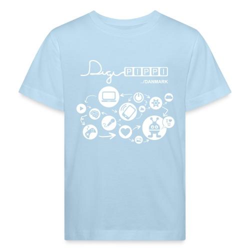 DigiPippi DK white - Organic børne shirt