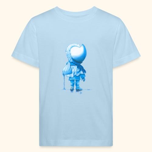 Unser Sandmännchen von hinten blau - Kinder Bio-T-Shirt