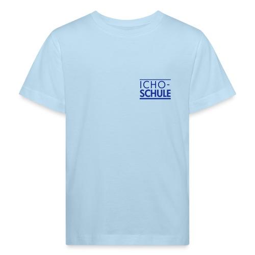 Ichoschule Logo blau - Kinder Bio-T-Shirt