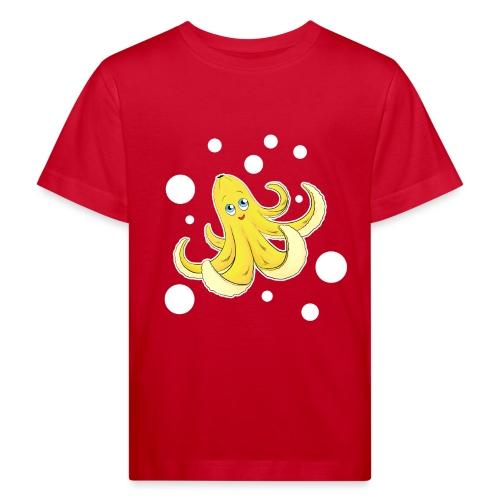 Bananen Oktopus - Oktopus Banane - Lustige Früchte - Kinder Bio-T-Shirt