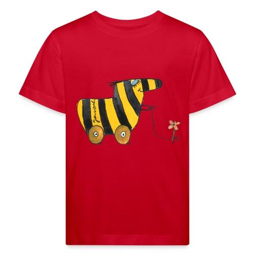 Janoschs Tigerente mit Blume - Kinder Bio-T-Shirt
