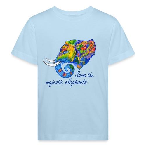 Save the majestic elephants - Kinder Bio-T-Shirt
