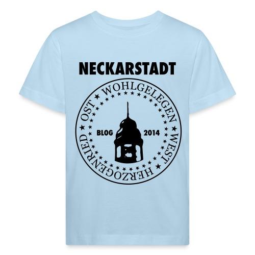 Neckarstadt Blog seit 2014 (Logo dunkel) - Kinder Bio-T-Shirt