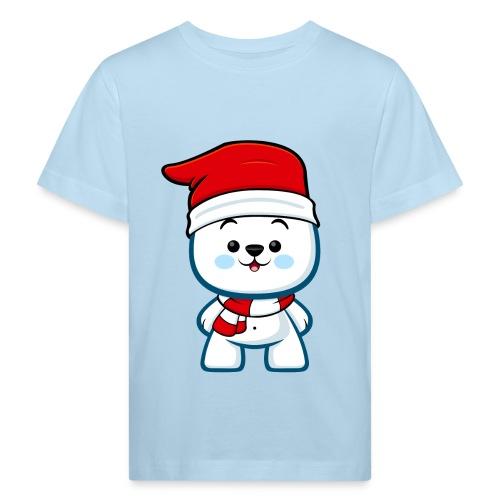 Polar Bear Boy Christmas - Kids' Organic T-Shirt