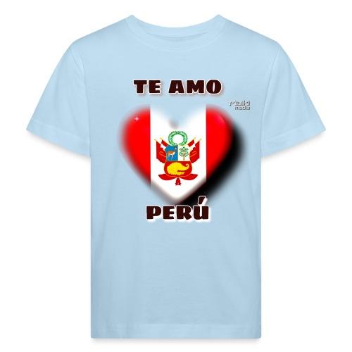 Te Amo Perú Corazón - Camiseta ecológica niño