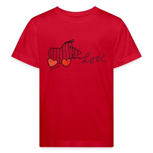 Janosch Tigerente Love Schriftzug - Kinder Bio-T-Shirt